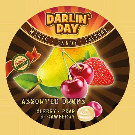 КАРАМЕЛЬ ЛЕДЕНЦОВАЯ «DARLIN`DAY»® ассорти со вкусом груши, вишни, клубники