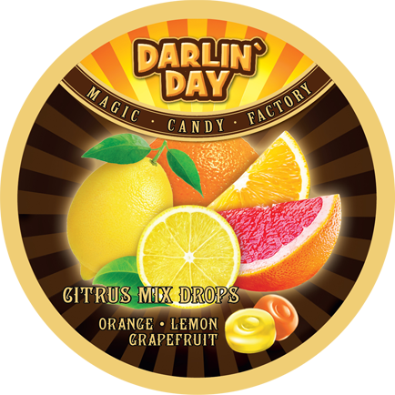 КАРАМЕЛЬ ЛЕДЕНЦОВАЯ «DARLIN'DAY» CITRUS MIX